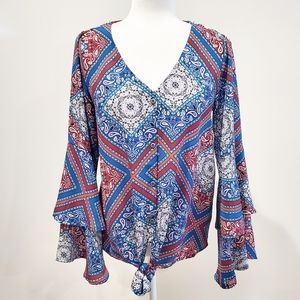 Altar'd State Tie Front Blouse